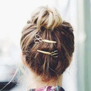 Gold Scissors Bobby Pin Hair Clip Barrette